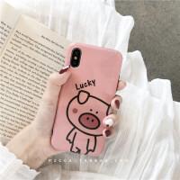 可爱卡通luck猪8plus苹果x/xr手机壳iphone6/7/xs max个性硅胶女 【i6/6s 4.7寸】