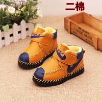 儿童二棉鞋秋冬季滑男童棉鞋女童冬鞋软底保暖加绒宝宝鞋1-岁