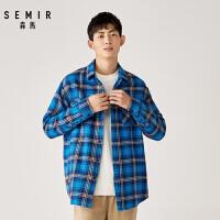 【2.7折价:80元】森马男装格子衬衫冬季新款韩版潮流格纹格纹外套学生青年衬衣