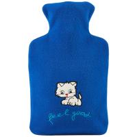 可爱卡通绒布热水袋充水暖水袋注水暖手宝