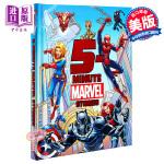 【中商原版】漫威5分钟故事集 英文原版 5-Minute Marvel Stories 精装 超级英雄 复仇者联盟 6
