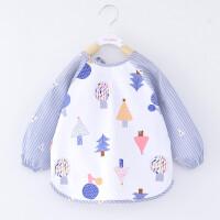 宝宝罩衣春秋薄款防水反穿衣男女孩儿童围裙婴幼儿吃饭衣围兜