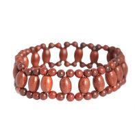 印度小叶紫檀排珠桶珠佛珠手串 手链女款 时尚民族风饰品