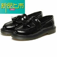 新品上市18四季款休闲潮皮鞋子男士韩版日系板鞋韩版文艺百搭套脚皮鞋