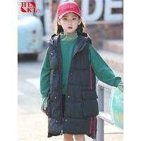 儿童棉马甲加厚保暖秋冬女童马甲外穿中大童童装