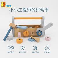 VIGA/唯嘉维修工具篮儿童组装玩具男孩女孩宝宝早教益智小玩具