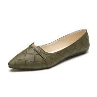 新款韩版潮浅口单鞋淑女鞋学生夏天尖头平底鞋女
