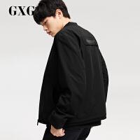 GXG联名款 冬季男士潮流黑色棒球领运动夹克男装外男174821911