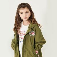 davebella戴维贝拉kids2020秋季新款女童外套中大童风衣DBK12240