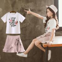 女童夏装套装夏季儿童装洋气中大童时髦两件套裙子潮