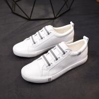 全黑板鞋大码女鞋40-42-43皮面帆布鞋白色平底小白鞋学生休闲鞋41 白色 送运费险