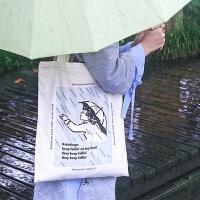 雨过山ins复古帆布袋带拉链甜美清新古着包包单肩手提帆布包