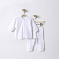 婴儿秋衣秋裤套装秋夏装开衫0-3月1岁男女新生儿内衣长袖长裤