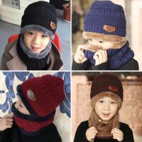 秋冬季2儿童帽子围巾两件套装6小孩7男童女童围脖5冬天潮4岁8