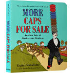 英文原版绘本 More Caps for Sale 卖帽子姐妹篇纸板书 韵文 亲子共读