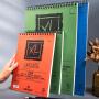 法国康颂XL素描本8k16K水彩纸8开的美术绘画素描纸丙烯本溶彩铅绘画速写马克笔本粗/细纹