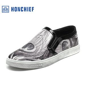 红蜻蜓旗下品牌HONCHIEF 男鞋休闲鞋秋冬鞋子男板鞋KTA1222