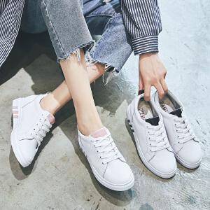 ZHR2019新款韩版小白鞋内增高女鞋平底休闲鞋中跟单鞋百搭鞋子潮