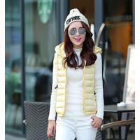 新品韩版棉服连帽外套女个性时尚马甲坎肩连帽短款棉背心棉马夹