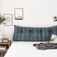 风家用粗布全棉床头靠背飘窗长靠枕沙发大靠垫拉链可拆洗