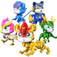 变形合体机器人儿童玩具之超星萌宠超级铁拳虎恐龙日记玩具