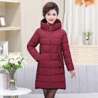 中老年妈妈棉衣女冬季2018新款女士中长羽绒加厚保暖棉袄外套