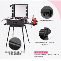 化妆箱拉杆带LED灯支架可调光美容化妆师大号跟妆箱便捷简约立体箱型