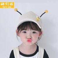 儿童帽子可爱超萌女春秋 女童洋气男潮鸭舌帽韩版薄款 夏天棒球帽