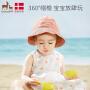 欧孕宝宝春夏可爱渔夫帽防晒遮阳帽薄款儿童男女婴儿帽子潮流时尚款