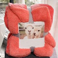 法兰绒仿羊羔绒毛毯被子冬季加厚单双人午睡盖毯珊瑚绒毯子s