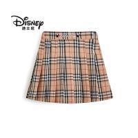 迪士尼女童半身裙2020新款夏儿童短裙格子裙学生洋气童装裙子夏季