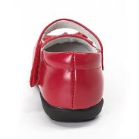 女童皮鞋红色花童儿童鞋春秋新款真皮黑色表演单鞋公主鞋