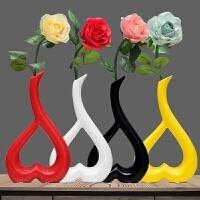 简约陶瓷工摆件创意茶几餐桌饰品结婚礼品时尚心形摆设