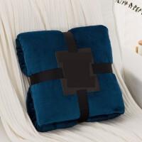 冬季法兰绒毛毯加厚珊瑚绒毯子单人沙发绒毯双人被子加绒床单毛绒Y 蓝色 午夜蓝