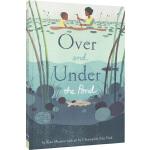 英文原版绘本 Over and Under the Pond 精装大开本 池塘上下 大自然儿童科普启蒙绘本