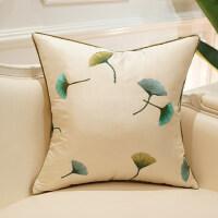 简约现代沙发靠垫坐垫客厅靠垫抱枕床上靠枕含芯大靠背 翡翠* 白