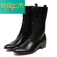 新品上市真皮长筒靴子英伦骑士男靴高筒靴骑韩版马靴潮流男鞋阅兵靴仪仗靴