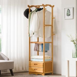 幽咸家居 衣帽架落地简易衣架子省空间多功能小卧室创意收纳衣服架简约现代
