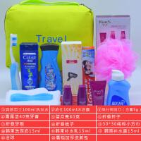旅行洗漱包套装含小瓶洗发水沐浴露护肤品样便携洗护用品男女双人出国