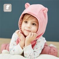 儿童保暖帽婴儿帽子春秋护耳帽宝宝天鹅绒夹棉造型帽