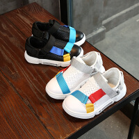 童鞋儿童鞋男童秋天鞋子透气板面夏季白色运动鞋