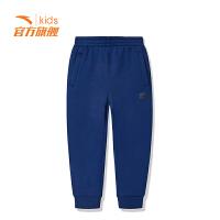 【3折价53.7】安踏童装男童针织长裤儿童运动裤休闲裤子A35849740