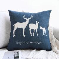 沙发抱枕靠枕客厅靠垫简约车内文艺办公室靠背枕含芯棉麻ins