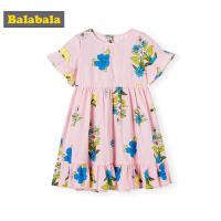 巴拉巴拉童�b女童�B衣裙夏季2019新款小童����高腰公主裙�和�裙子