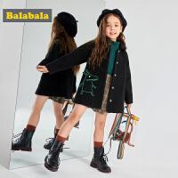 【3件3折价:209.4】巴拉巴拉女童大衣儿童羊毛外套宝宝呢子大衣年潮