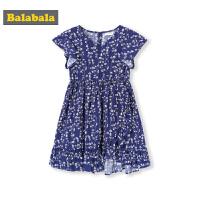 巴拉巴拉童装女童裙子儿童连衣裙夏季新款小童宝宝碎花茶歇裙
