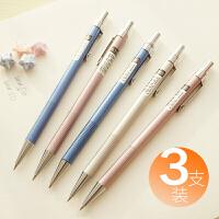 得力全金属0.5自动铅笔0.7mm儿童小学生制动铅笔写不断糖果色小清新可爱韩版女孩彩色绘画专业按动式批发套装