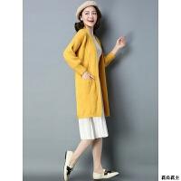 大款毛衣开衫外套女秋冬款女装针织衫中长款加厚羊绒外穿羊毛衫潮 2X