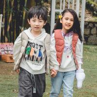 儿童羽绒棉马甲2019秋冬新款中小童男女宝宝保暖坎肩背心3岁4外套