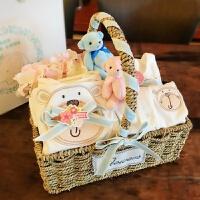新生儿礼盒婴儿衣服套装礼盒男女宝宝百天满月纯棉夏秋季用品*